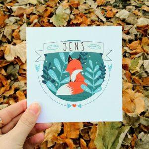 Voorbeeld Jens geboortekaartje